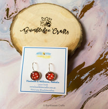 Load image into Gallery viewer, Polka Dot Glass Bead Drop Earrings - Bumblebee Crafts