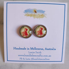 Load image into Gallery viewer, Cameo Stud Earrings - Bumblebee Crafts
