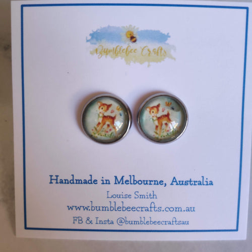 Cameo Stud Earrings - Bumblebee Crafts