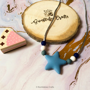 Little Miss Range - Star silicone bead necklaces - Bumblebee Crafts