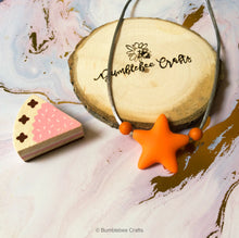 Load image into Gallery viewer, Little Miss Range - Star silicone bead necklaces - Bumblebee Crafts