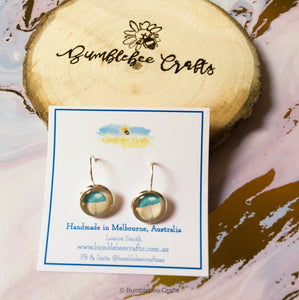 Quirky Glass Bead Earrings - Bumblebee Crafts
