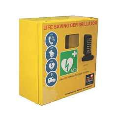 Defibrillator Outdoor Lockable Cabinet Stainless Steel