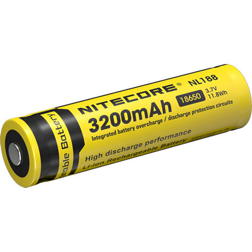 Nitecore 18650 Li-Ion Rechargeable Battery (3.7V, 3200mAh)