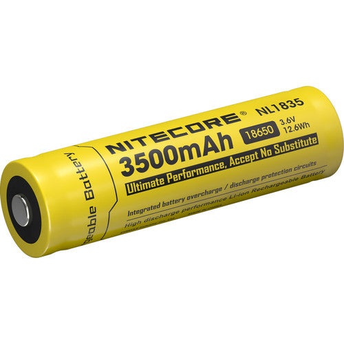 Nitecore 18650 Li-Ion Rechargeable Battery (3.6V, 3500mAh)