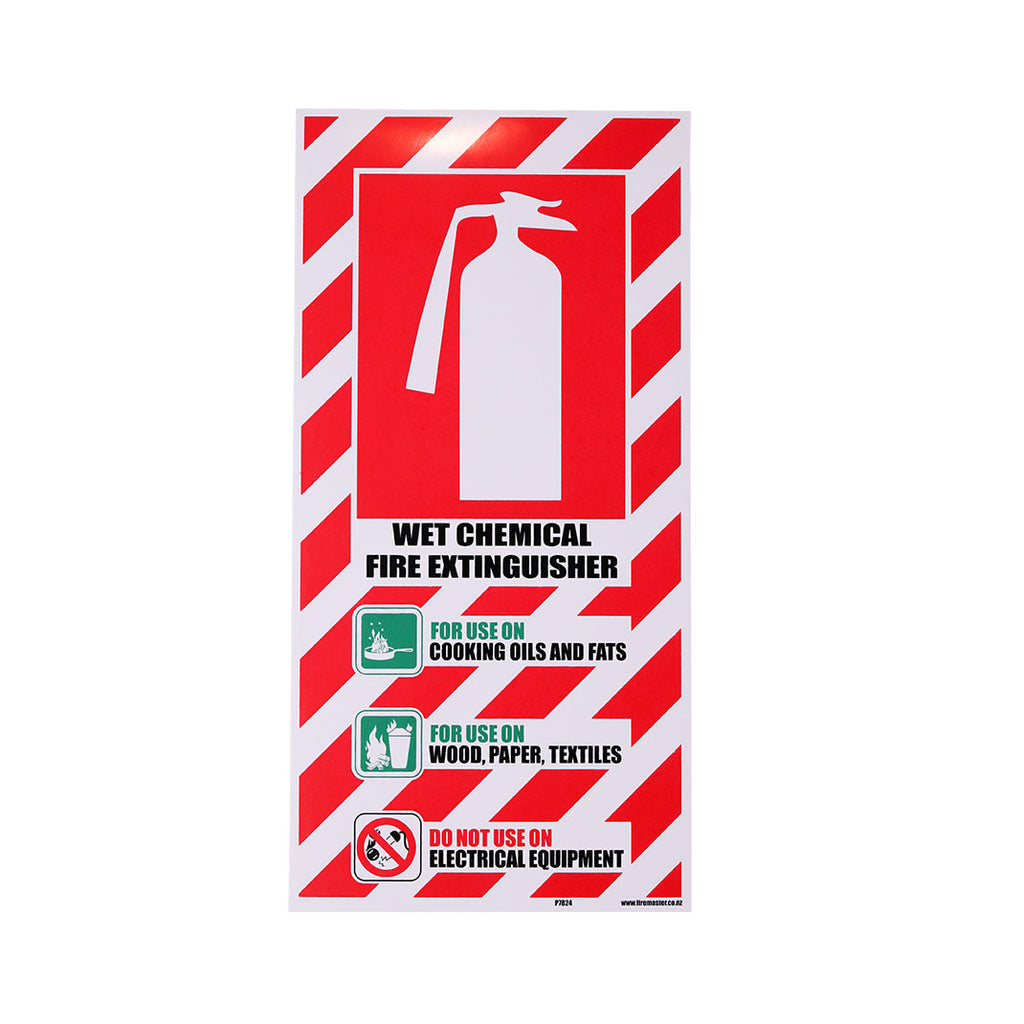 Wet Chemical Fire Extinguisher Blazon