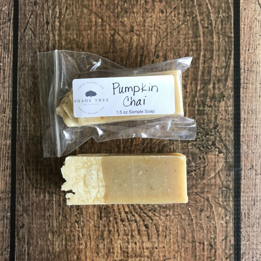 Pumpkin Chai Soap Sample