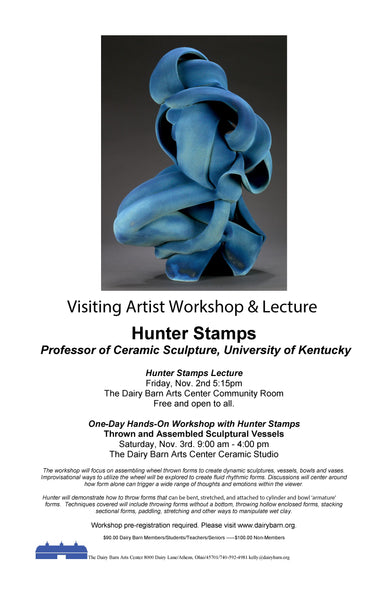 Hunter Stamps at the Dairy Barns Art Center Nov. 3rd