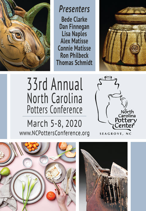 33rd Annual North Carolina Potters Conference - March 5-8, 2020