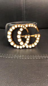 Belt with Pearl trim buckle