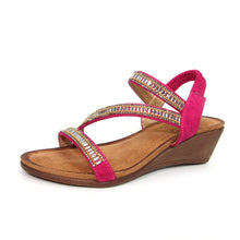 Load image into Gallery viewer, LUNAR - JLH073 Fuchsia - Sofia Glitzy Wedge