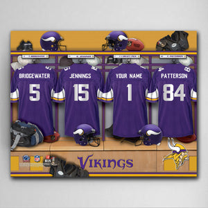 Personalized NFL Locker Canvas Prints (Available in All 32 Teams)