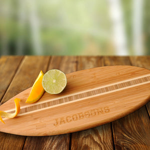 Personalized Surfboard Bamboo Cutting Board
