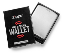 Load image into Gallery viewer, Personalized Zippo Brushed Silver RF Theft Resistant Wallet