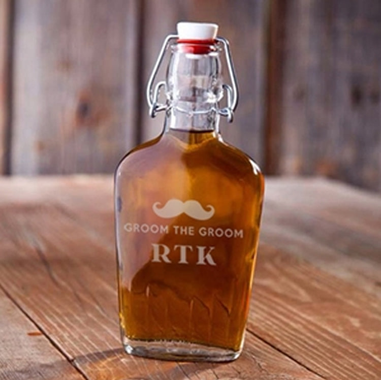 Personalized Vintage Replica Swing Top Glass Flask