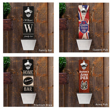 Load image into Gallery viewer, Personalized Wall Mounted Bottle Opener