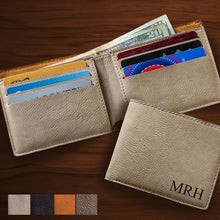 Load image into Gallery viewer, Personalized Leatherette Wallet (5 Wallets) - Groomsmen Gifts