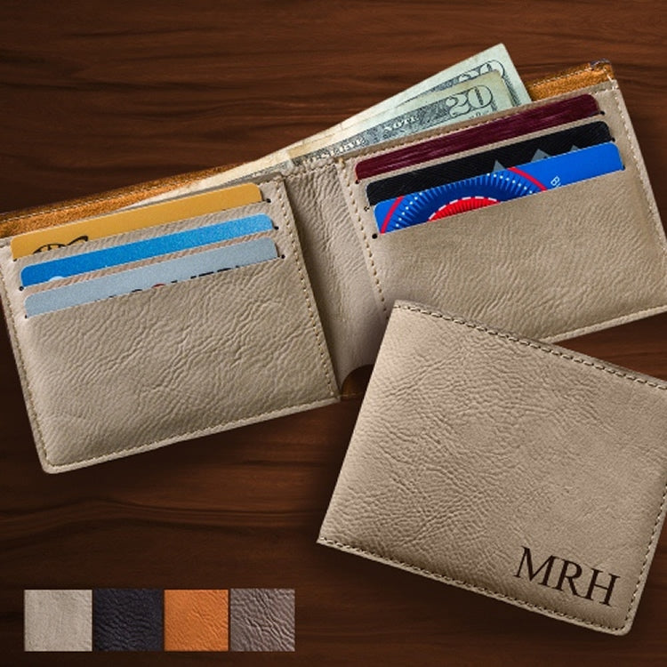 Personalized Leatherette Wallet (5 Wallets) - Groomsmen Gifts