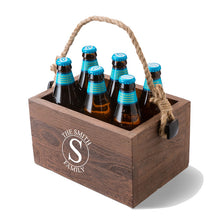 Load image into Gallery viewer, Personalized Beer Caddy Wood Box