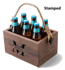 Personalized Beer Caddy Wood Box