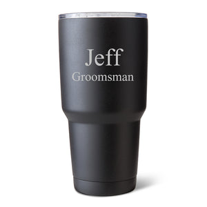 Personalized 30 oz. Black Matte Double Wall Insulated Tumbler