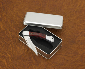 Personalized Yukon Lock-Back Knife in Tin Case