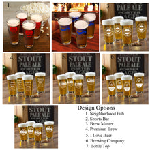 "Load image into Gallery viewer, Personalized ""10 Ounce"" Pint Glasses (Set of 4)"
