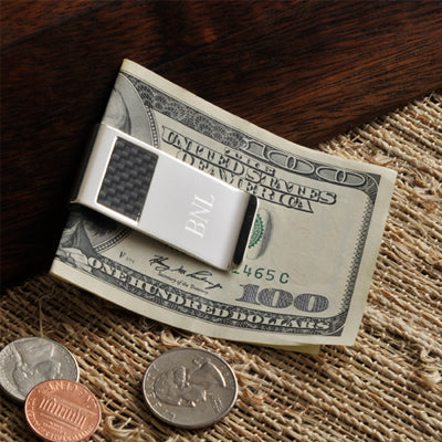 Personalized Carbon Fiber Money Clip