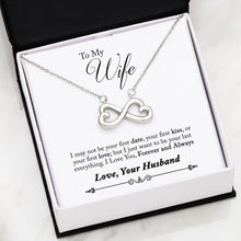 "Load image into Gallery viewer, Husband to Wife ""Your Last Everything"" Infiniti Necklace"
