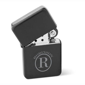 Personalized Matte Black Wind Proof Lighter