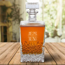 Load image into Gallery viewer, Personalized Rectangular 24 oz. Decanter