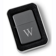 Load image into Gallery viewer, Personalized Matte Black Wind Proof Lighter