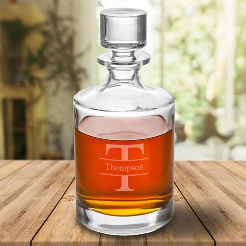 Personalized 30 oz. Personalized Glass Decanter