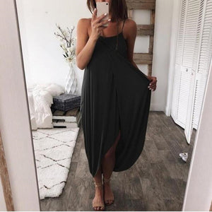 Solid Cutout Sexy Strapless Maxi Dress