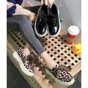 Flat Heel Daily Bowknot Non-slip Women Flats Loafers Round Toe Slip On Shoes