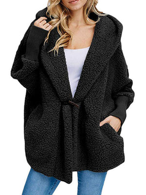 Long Sleeve Cashmere Shawl Collar Pockets Coats
