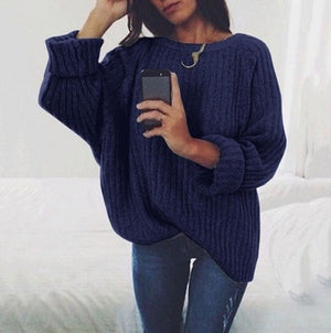 Autumn Winter Women Pullovers Women's Casual O-Neck Long Sleeve Sweater