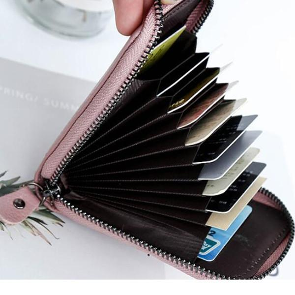 Genuine Leather 7 Colors 11 Card Slots Storage Bag Card Pack Purse