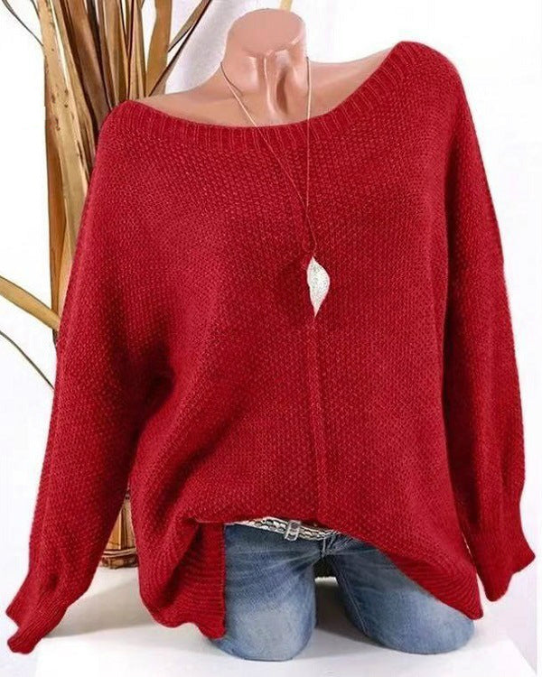 Women Plus Size Casual Solid Color Sweaters