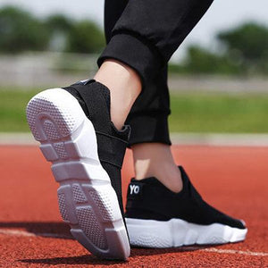 Women Large Size Mesh Fabric Women Sneakers Casual Comfort Breathable Velcro Shoes