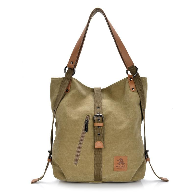 Canvas multifunctional Leisure Shoulder bag Backpack Messenger Bag