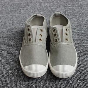 Women Shell Toe Athletic Sneakers Slip on Casual Canvas Non-slip Shoes Without Laces