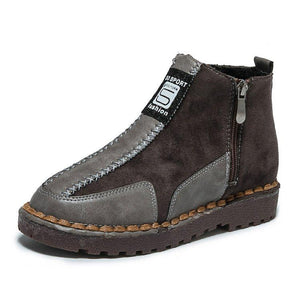 Womens Platform Flat Bottom Martin Sneakers Ankle Boots