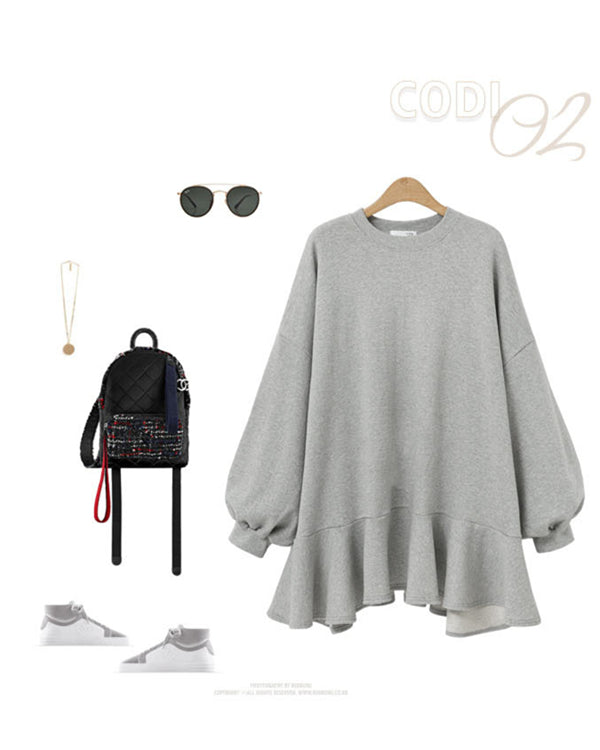 Women Plus Size  Casual Pure Color Chiffons Dress
