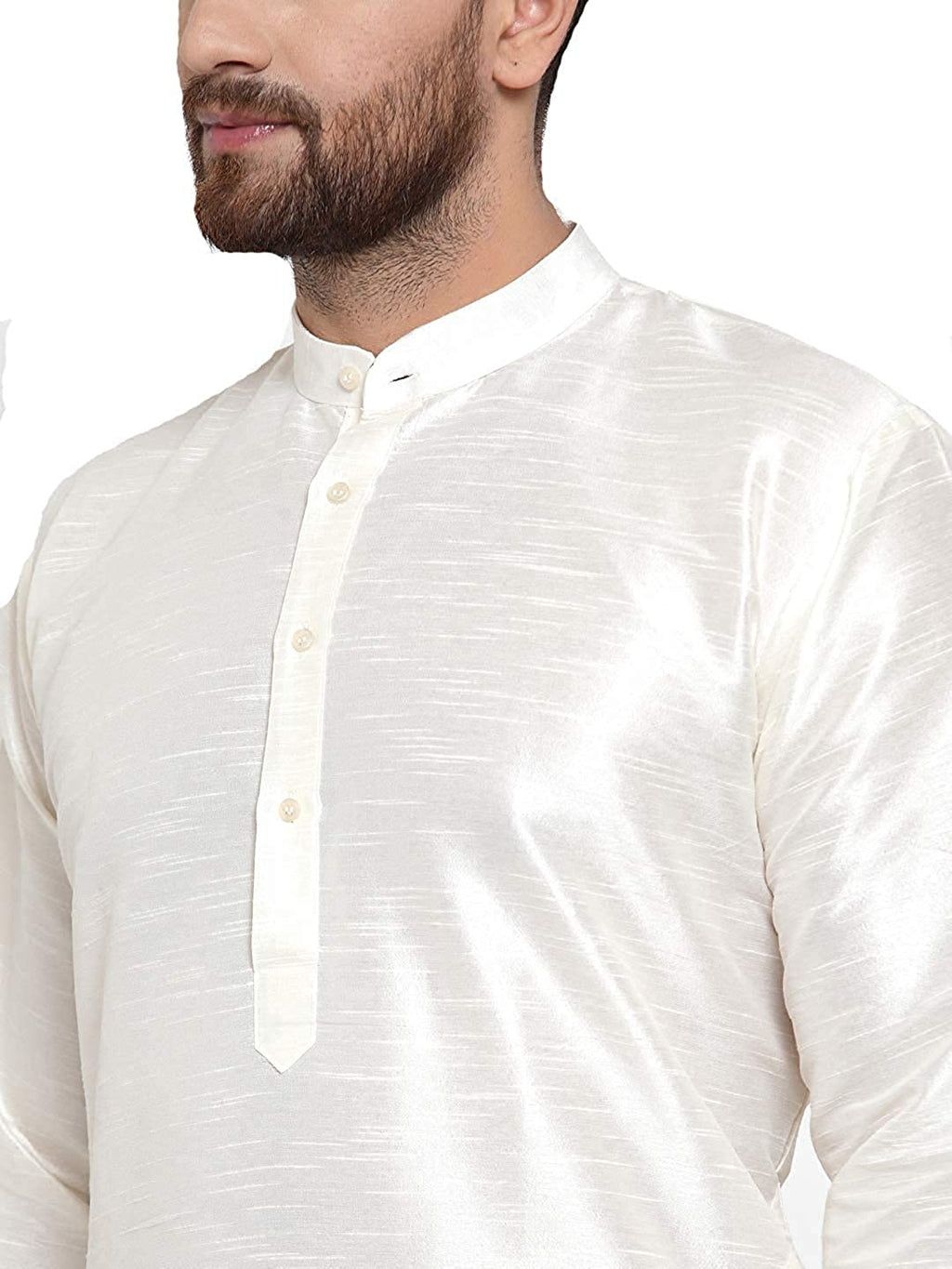 Men's Silk White Kurta Pyjama