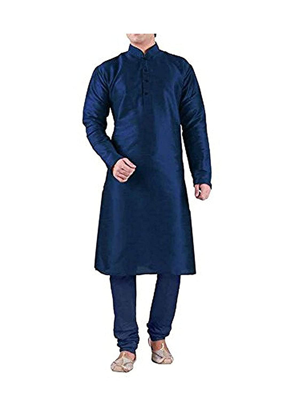 Men's Silk Blue Kurta Pyjama