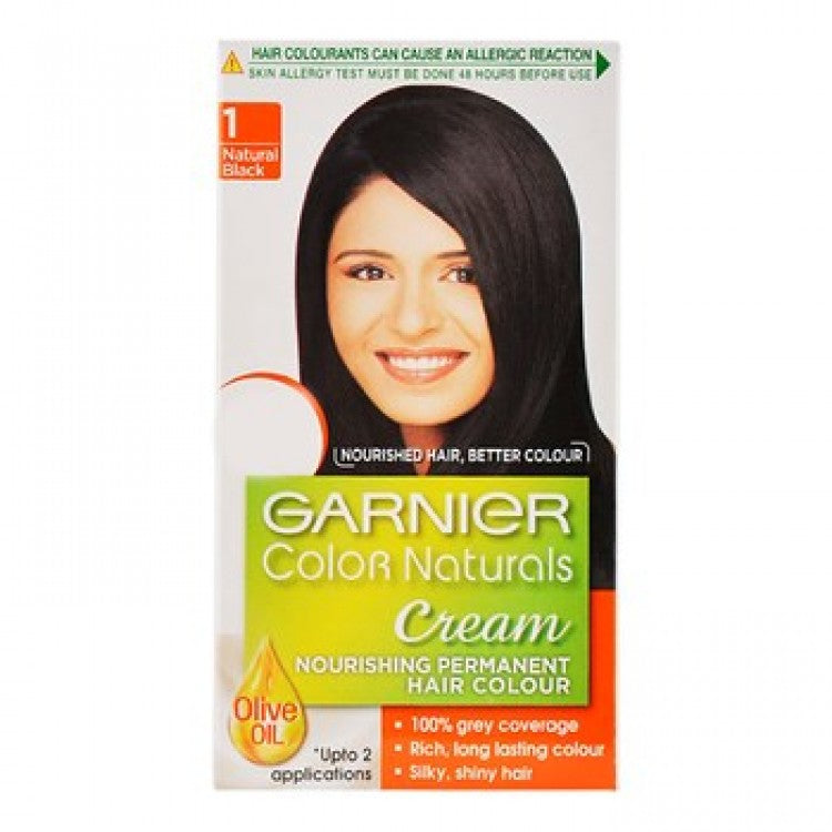 Garnier Colour Natural Black Hair Colour Shade No 1, 24 ml + 16 g