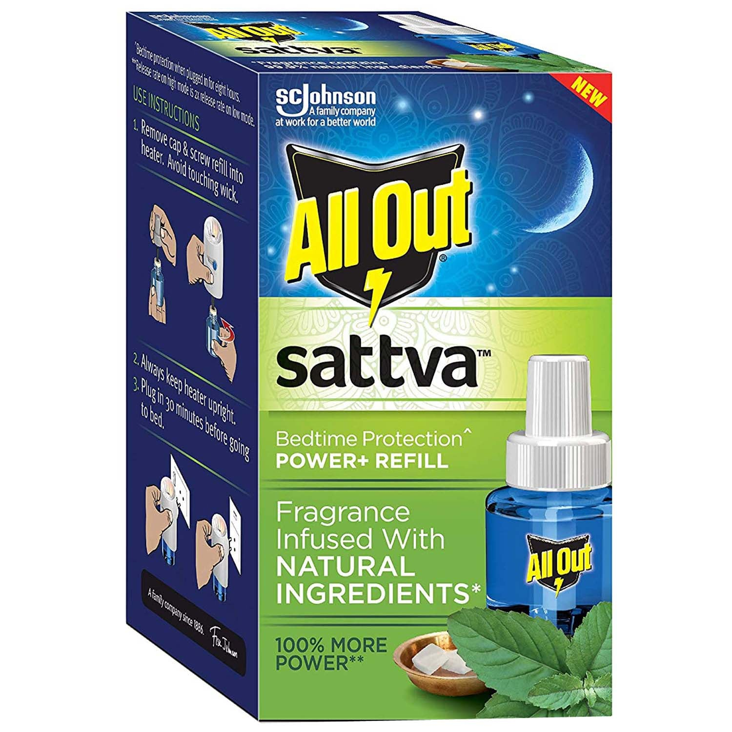 All Out Sattva Refill Machine + 45 ml Refill