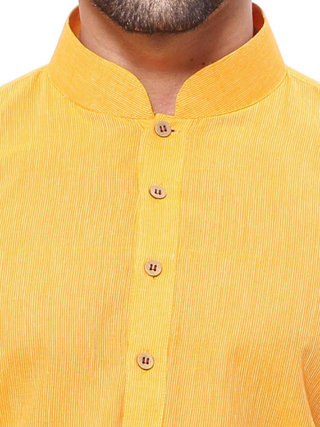 Men's Handloom Yellow Kurta Pyjama