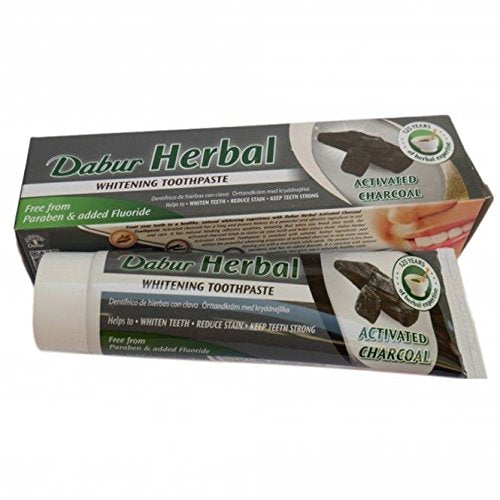 Dabur Herbal Toothpaste - Activated Charcoal 100ml (for teeth whitening)